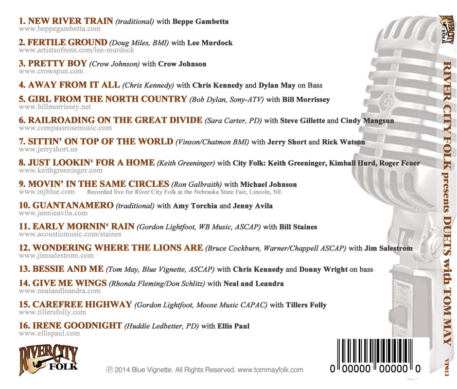 Lyric lyrics to goodnight irene : Welcome to The Official Tom May Website! Discography: River City ...